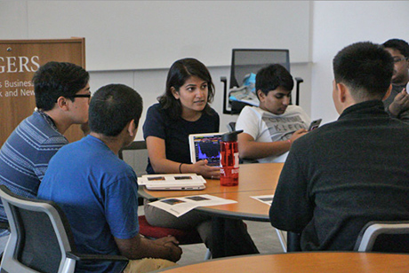 Saloni Gupta, credit analyst at Bloomberg LP worked with the students in small groups and answered questions.