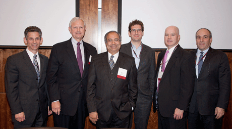 Darius Paliai with speakers from Rutgers Financial Institutions Conference