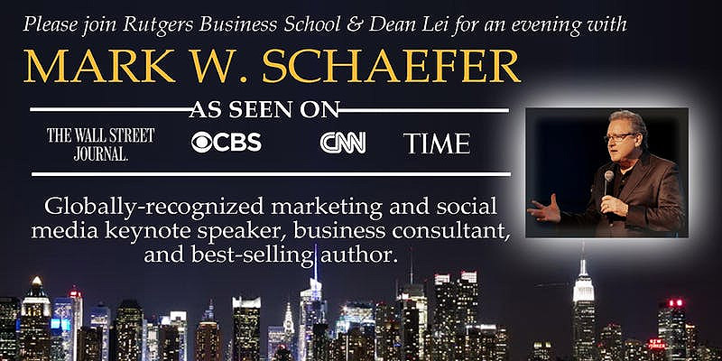 Globally recognized marketing and social media keynote speaker, business consultant, and best-selling author, Mark W. Schaefer.
