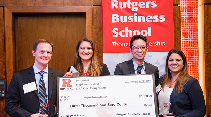 Rutgers MBA students won second place in the competition.