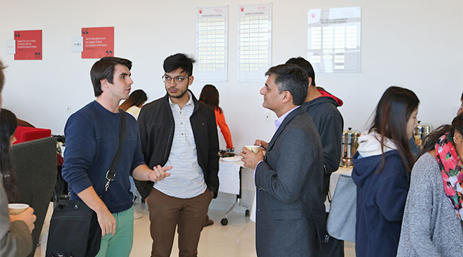 Rahul Mehotra speaks to RBS students.