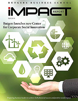 Cover of the 2018 fall impact report which features a hand held out with palm upward with icons hovering above it.