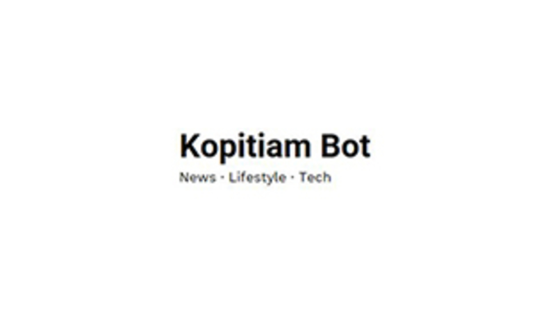 Kopitiam Bot, News, Lifestyle, Tech