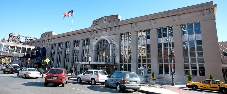 Street side view of the Newark Penn Station terminal