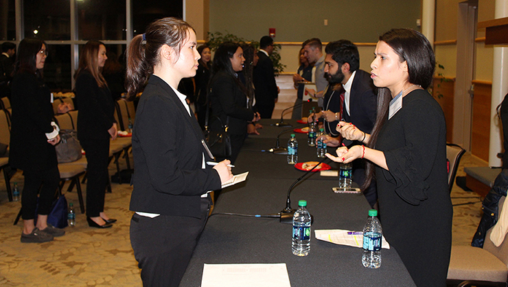 The event gave students a chance to network with business professionals from Goldman Sachs.