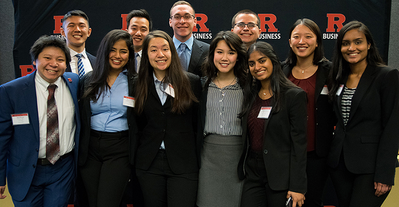 Rutgers students who lead the Phi Beta Lambda chapter on campus.