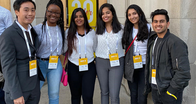 Rutgers Business School students attend Forbes Under 30 Summit in Detroit.
