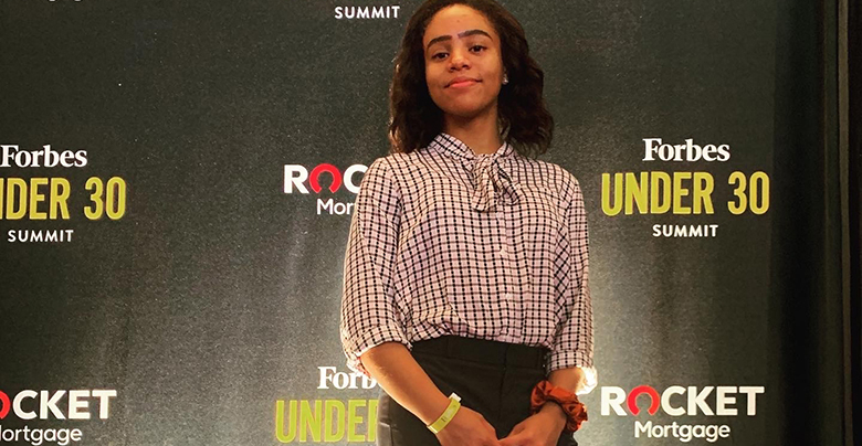 Rutgers Business School student Sophia Greene at the Forbes Under 30 Summit.
