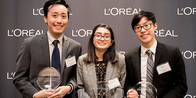 Rutgers team is a finalist in L'Oreal's international Brandstorm Competition.