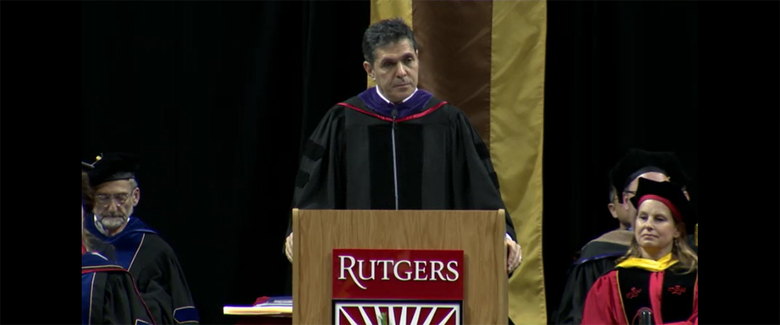 "Lubetzky said that he was ""very proud to be here among the Scarlet Knights, because of Rutgers' embodiment of diversity and pluralism in American society."