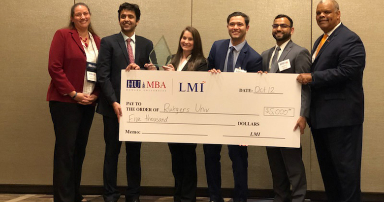 Rutgers Business School won first place in Howard University's annual Minority Case Competition.