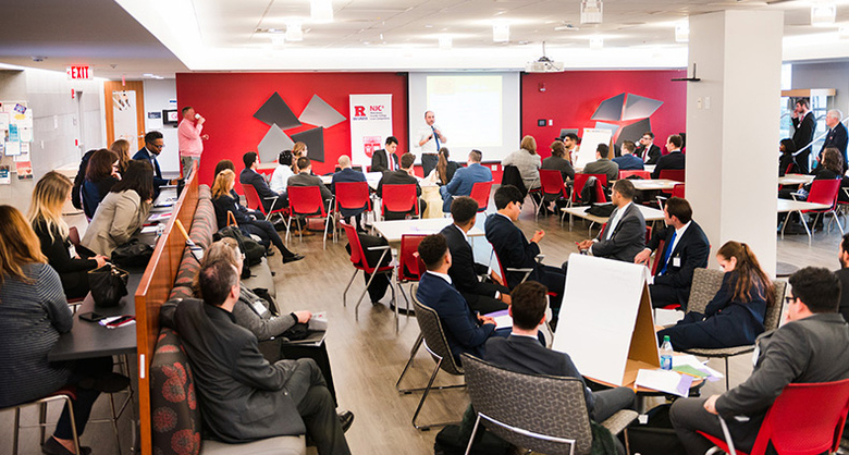 One of the activities during the New Jersey County College Case Competition at Rutgers Business School.