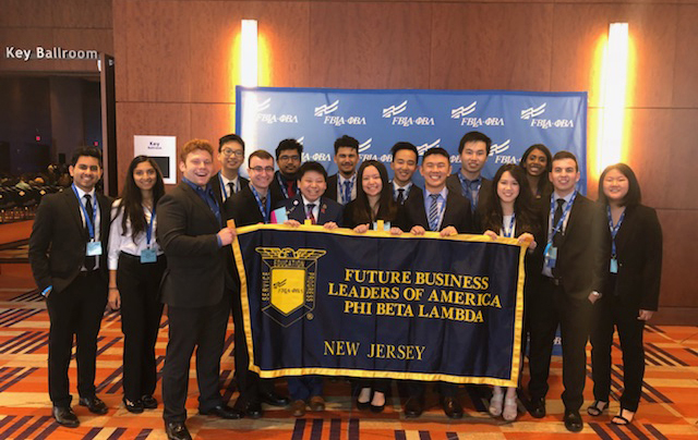 Members of Future Leaders of America-Phi Beta Lambda who represented Rutgers at the organization's 2018 national leadership conference.