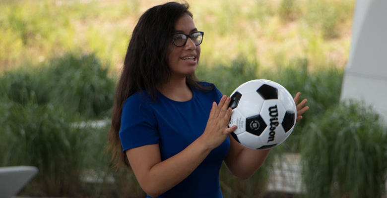 "Yoselin Hernandez attended this year's camp, and became ""hooked"" on studying business when she goes to college."