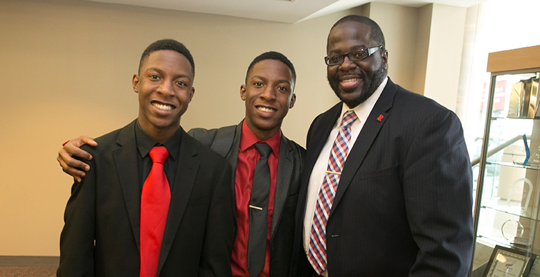 Assistant Dean Charles A. Brown with Joshua and Jonathan two graduates of the 2016 B-STAR program. Photos by Karen Mancinelli.
