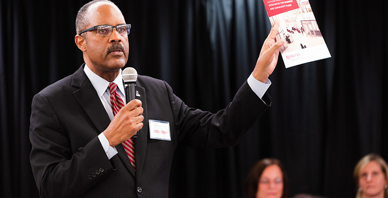 Rutgers Business School professor Leon Fraser organized the Business Community Engagement Symposium.