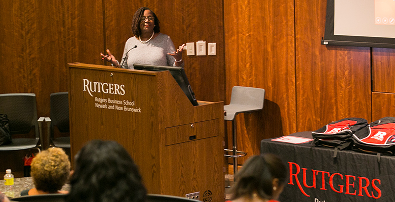 """If you leave a record of distinction, that is very important,"" RU-Newark Vice Chancellor Marcia Brown told the students."