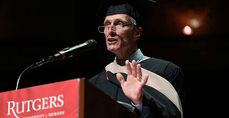 Rutgers alumnus William Federici was the 2019 graduate program convocation ceremony speaker.
