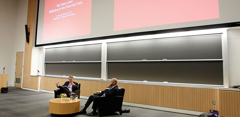 Rutgers Business School professor Fred Hoffman speaks with Harvey Schwartz, former president and co-chief operating officer of the Goldman Sachs Group who retired earlier this year.