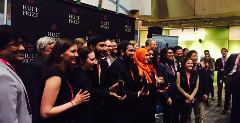 Roshni Rides among other collegiate teams for the Hult Prize competition.