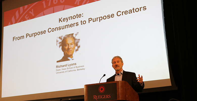 Richard Lyons, dean of Haas School of Business at the University of California-Berkeley, questioned whether academic programs instill students with a greater sense of purpose.