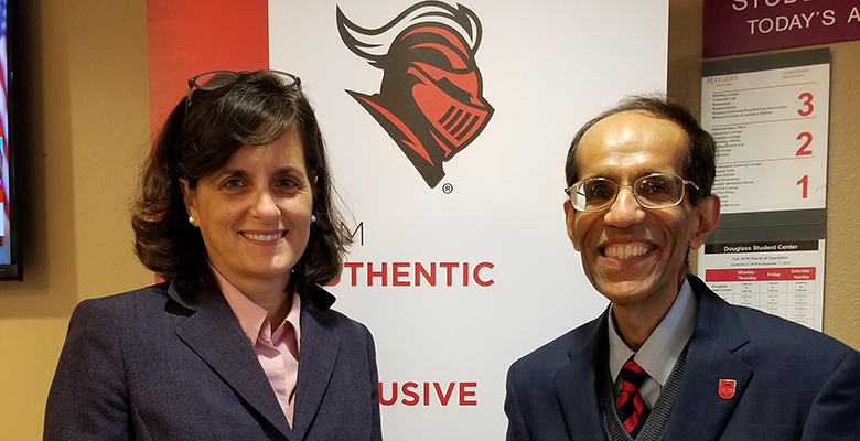 New Jersey State Treasurer Elizabeth Maher Muoio with Director Irfan Bora, Master's Program in Governmental Accounting.