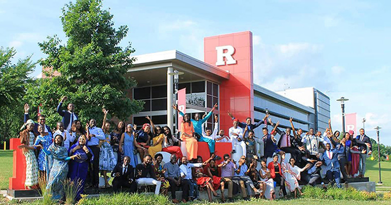 The 2018 Mandela Washington Fellows at Rutgers University.