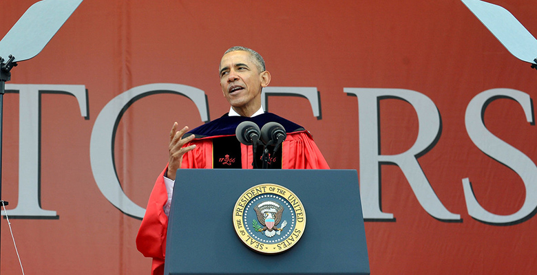 President Barack Obama spoke to the Rutgers University Class of 2016.