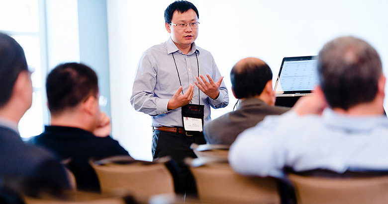 Professors from around the world participated in the academic conference at Rutgers Business School.