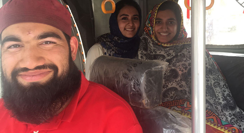 The team piloted the Roshni Rides transportation company in Pakistan during the summer.