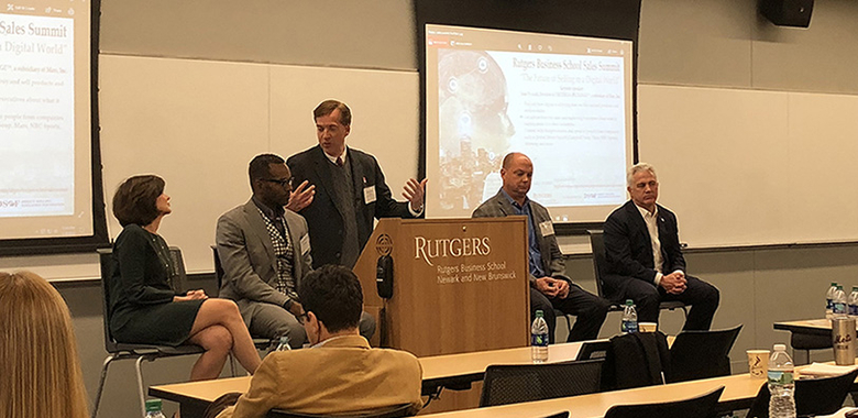 Rutgers Business School holds Sales Summit event.