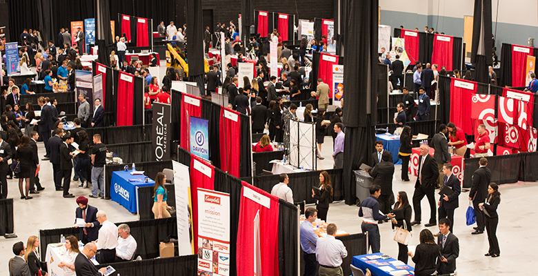 Rutgers supply chain management students have an opportunity to meet representatives of dozens of companies at an annual career expo.
