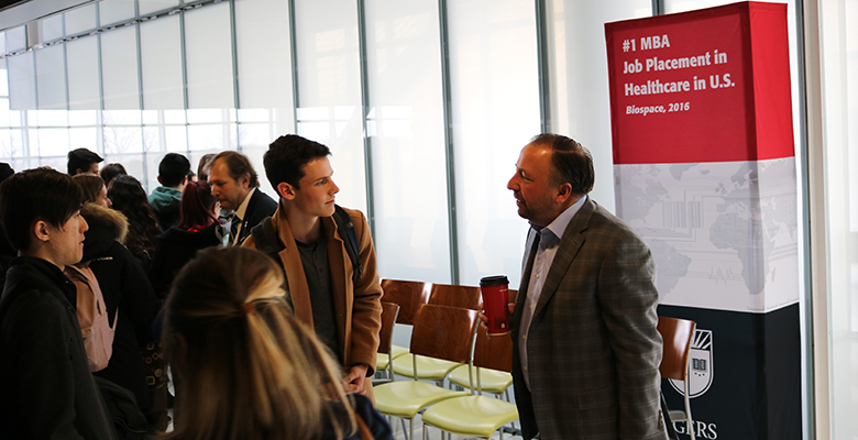 Stinziano spoke with students one-on-one after the event.