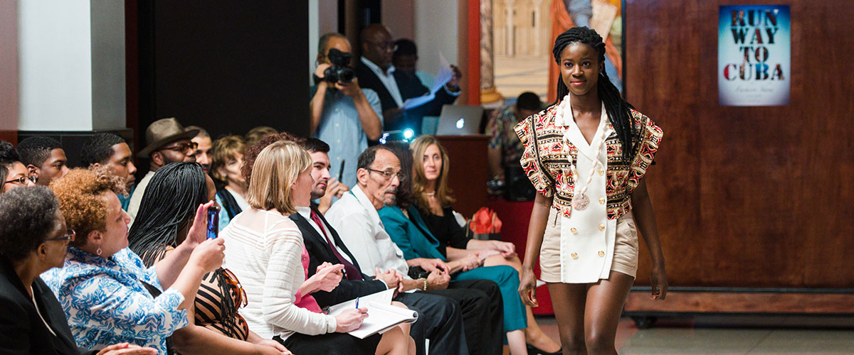 Rutgers Business School participates in fashion show event.
