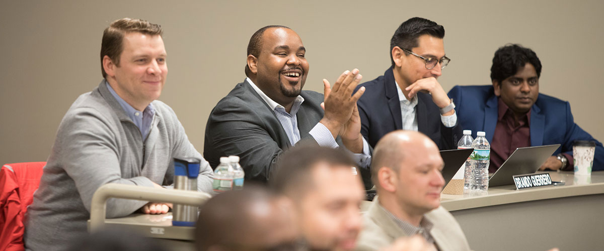 Rutgers Executive MBA students in class.
