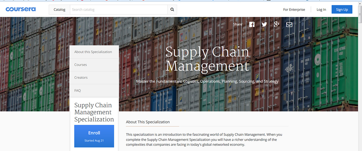 rutgers launches new online course on supply chain