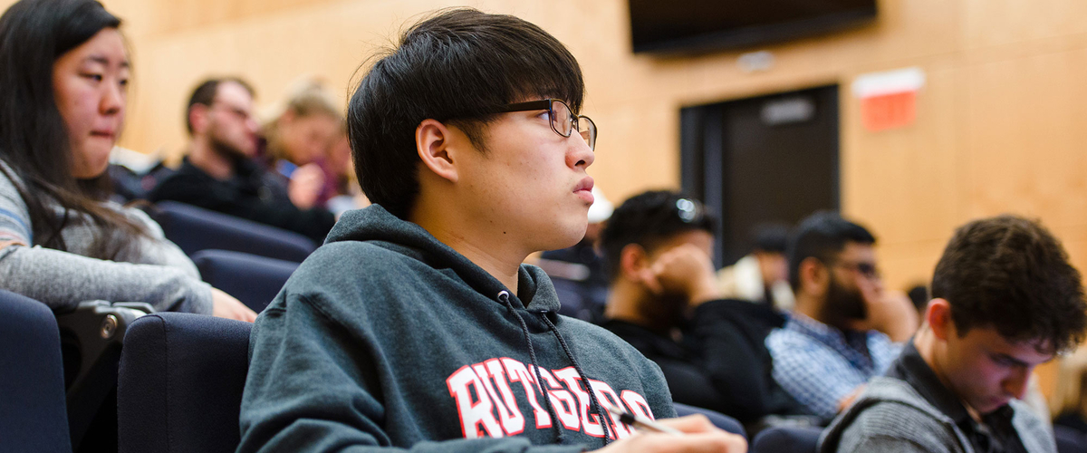 Student focused in class