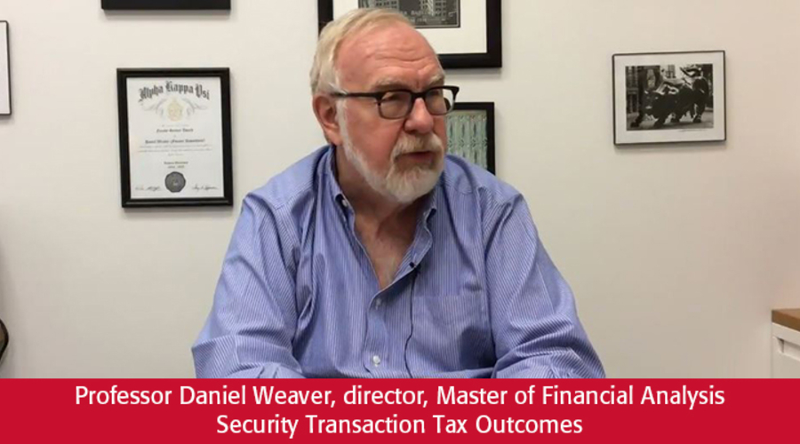 Professor Daniel G. Weaver discusses security transaction tax research