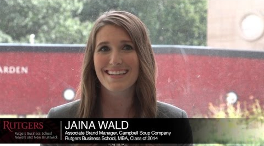 Rutgers gives you access to incredible career opportunities, Jaina, MBA '14